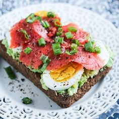 These toasts are good for you (and your Instagram feed), thanks to gorgeous toppings like smoked salmon, eggs, and green onions.