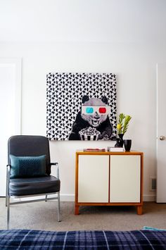 Chad and Dave's Modern Dream Home. (Dave Widmer, CB2 eCommerce Brand Director and Chad Ross, Crate and Barrel Visual Merchandising Team Lead) Panda Print available from CB2.