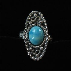 Sarah Coventry Turquoise Lucite Ring Adjustable by Elsewind,