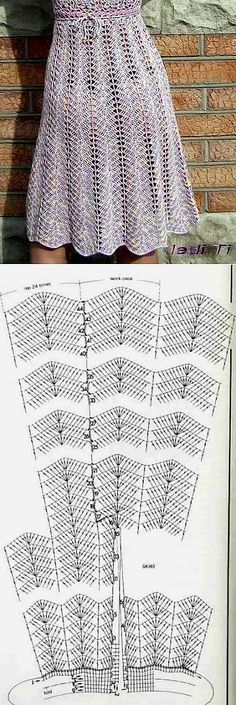Skirt wave dress clothing pattern