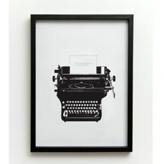 Typed love print from £35