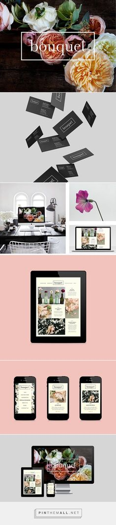 Bouquet Florist Branding and Web Design by Martine H. Nyrud | Fivestar Branding Agency – Design and Branding Agency & Curated Inspiration Gallery