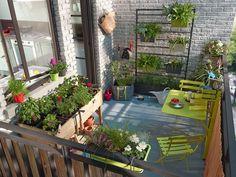 Table de balcon rabattable