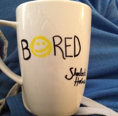 Bored mug Sherlock Holmes :)