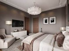 Bedroom Design And Decoration Tips And Ideas - Top Style Decor Modern Bedroom Design, Bed Design, Home Interior Design, Design Interiors, Interior Architecture, Modern Design, Modern White Bed, Home Bedroom, Bedroom Furniture