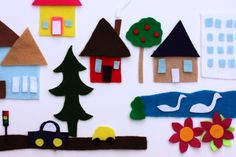 Tiny Town Made from Felt and Scissors | Alpha Mom