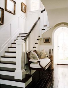 Chair beside staircase ?