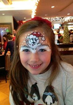 Girl Face Painting, Face Painting Designs, Paint Designs, Body Painting, Christmas Design, Kids Christmas, Puppy Face Paint, Christmas Face Painting, Face Paint Makeup
