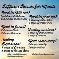 Diffuser blends for moods
