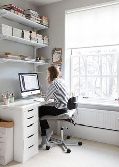 My Study: My light home office by Cate St Hill