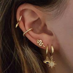 ᴘɪɴᴛᴇʀᴇsᴛ ⋆ ᴊᴏᴜɪʀxʙɪᴛᴄʜ Ear Jewelry, Cute Jewelry, Gold Jewelry, Jewelery, Jewelry Accessories, Flower Jewelry, Vintage Jewellery, Antique Jewelry, Jewelry Necklaces