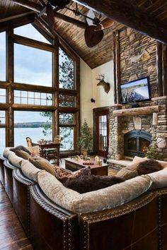 Summer House Rustic Living Room Design
