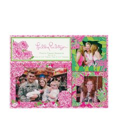 Lilly Pulitzer Photo Frame Magnet Set May Flowers