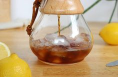 Iced Coffee - the Chemex way.  Image is taken from our delicious recipe for Iced Coffee Lemonade.