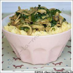 Polenta aux champignons | Marmotte cuisine !