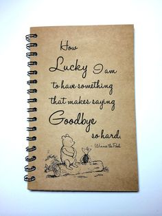 Winnie The Pooh Goodbye Gift Best Friend Gift by MisterScribbles