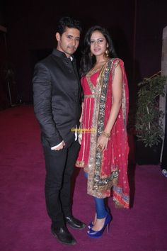 Ravi Dubey With his Wife