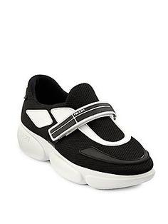 PradaCloudbust Mesh Lace-Up Sneakers