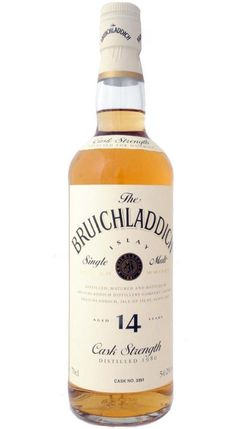 Bruichladdich 1980/1994 Oddbins Cask no 3351 single Islay malt whisky 54,2%