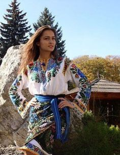 Beautiful lady in Ukrainian national outfit, fron Iryna with love