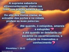 Provérbios 1: 20-22