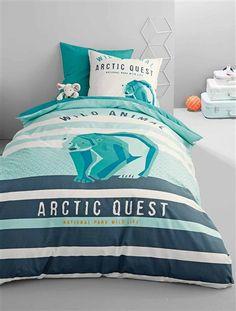 Funda nórdica Arctic quest VERDE CLARO LISO CON MOTIVOS