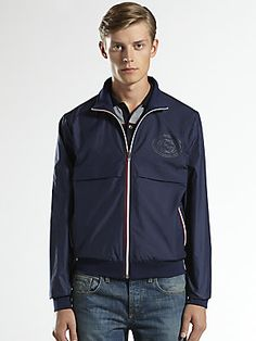 Gucci Techno Nylon Bomber Jacket