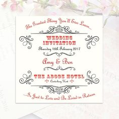Say i do at the zoo pocket fold wedding invitation for port the greatest thing youll ever learn is just to love and be loved in wedding quotessong lyricspoems stopboris Images