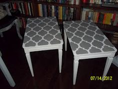 SIMPLY VINTAGEOUS .........................by Suzan: End table makeovers
