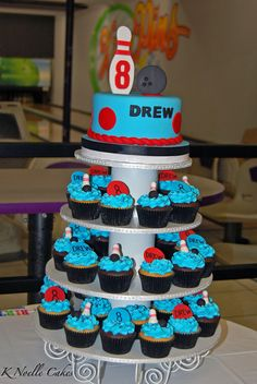 Bowling Party By K Noelle Cakes