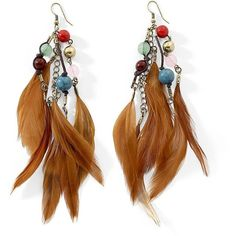 Cord Feather Earrings ($10) ❤ liked on Polyvore featuring jewelry, earrings, accessories, boucles d'oreilles, tri color earrings, colorful jewelry, cord jewelry, earrings jewelry and multicolor jewelry
