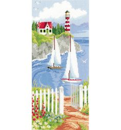 Sailboats In The Bay Cross Stitch Kit £38.75 | Past Impressions | Vervaco