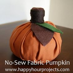adorable no-sew pumpkin - adding this one to the to-do list!