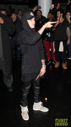 cadf6be26 Justin Bieber in the adidas Yeezy Boost--dark black silouhette Justin  Bieber 2015