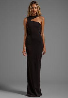 Mara black halter neck maxi dress