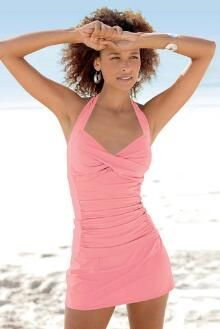 Ruched Halter Skirtini by Shape Benefits®