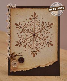 Brown Snowflake Card - Beautiful
