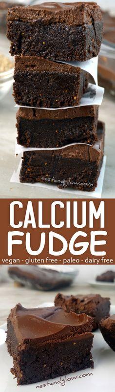 calcium chocolate vegan fudge