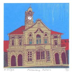 Muizenberg Station - editioned print by Kitty Dörje Kids Room Art, Art For Kids, South African Art, Space Architecture, Silk Screen Printing, Home Art, Notre Dame, Kitty, Art Prints