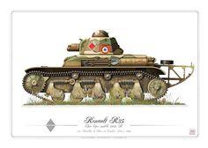 Renault R35 French Army (WW2) 23e Battaillon de Chard de Combat France 1940