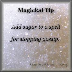 Magickal Tip - Stop Gossip with Sugar – Charissa's Cauldron