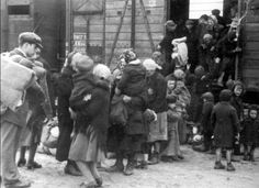 Auschwitz, unloading the train - from the Auschwitz Album
