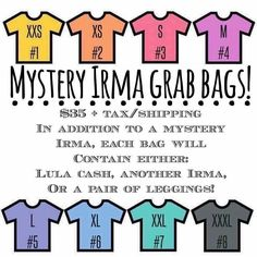 Grab an Irma Mystery Grab Bag for a fun surprise that you are sure to love! Click the link in our bio to join our group and claim! Lularoe Games, Lularoe Consultant, Facebook Giveaway, Types Of Social Media, September Birthday, Fb Page, Lula Roe Outfits, Grab Bags, Birthday Fun