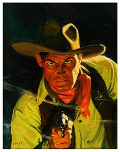 Tom Lovell, 1941. Cover illustration for Wild West Tales.