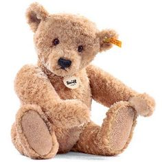 Steiff Elmar Teddy Bear Elmar is one of Steiffs most popular childrens bear and he is a true modern classic. Made in the image of one of Steiffs original bears from 1920, with a traditional handstitched smile and jointed arm http://www.MightGet.com/may-2017-1/steiff-elmar-teddy-bear.asp