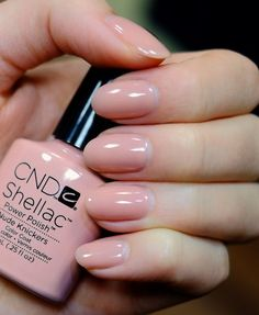 Next time I go get my nails done, doing this colour ❤️ Light Pink Simple Nail Art