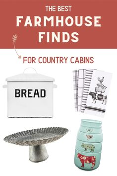 These shippable and stylish pieces add farm-fresh style to your cabin at a flea-market-worthy price.