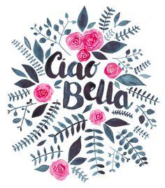 Ciao Bella Art Print by Elena O'Neill | Society6