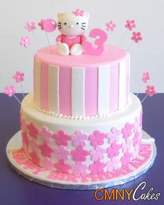 hello kitty 3rd birthday cake Hello Kitty Birthday Cake