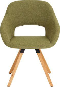 Dieser Stuhl aus dem Hause DIETER KNOLL ist definitiv ein Blickfang. Die eierschalenförmige Sitzschale ist mit hellgrünem Stoff überzogen und besitzt am hinteren Teil ein ovales Loch. Dadurch wird die traditionelle Form gebrochen und der Retro-Look elegant mit modernem Design verbunden. 4 elegant abstehende Beine aus massivem Eichenholz unterstützen diesen Eindruck. Mit diesem Stuhl verleihen Sie Ihrem Ess- und Wohnbereich einen kecken Farbtupfer, dem man die hohe Qualität ansieht!